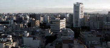 Panoramablick des südlichen Teils von Nikosia, ernstlich und am größten stockbild