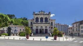 Panoramablick des städtischen Theaters der orange Stadt Lizenzfreie Stockfotografie