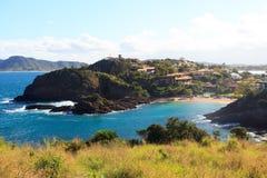 Panoramablick des Strandes Ferradurinha nahe Rio Lizenzfreies Stockbild