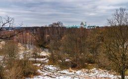 Panoramablick des Voskresensky oder Auferstehungs-neuen Jerusalem-Klosters Lizenzfreie Stockfotos