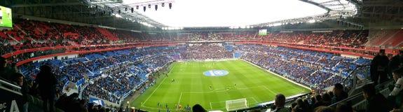 Panoramablick eines Stadions Stockfotografie