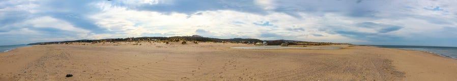 Panoramablick eines Strandes Stockbild