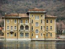 Panoramablick im alten Haushotel Jadran Bakar in Kroatien Lizenzfreie Stockbilder