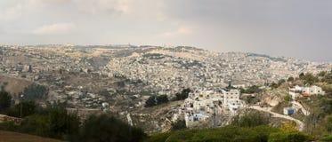 Panoramablick Jerusalem lizenzfreies stockfoto