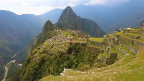 Panoramablick Machu Picchu stock video footage