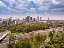 Panoramablick Mexiko City Chapultepec lizenzfreie stockfotografie