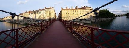 Panoramablick-Paul Couturier-Brücke Lizenzfreies Stockbild