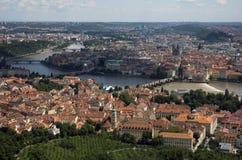 Panoramablick Prag Stockbild