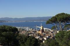 Panoramablick Saint Tropez Stockfoto