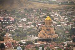 Panoramablick Stadt-Tifliss Georgia Stockbilder