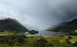 Panoramablick um Glenfinnan-Monument Lizenzfreie Stockfotos
