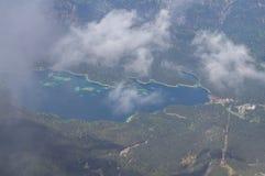 Panoramablick vom Zugspitze. Lizenzfreies Stockbild