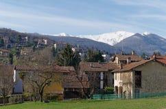 Panoramablick von östlich von Lugano, die Schweiz Stockfotos