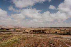 Panoramablick von Ait Benhaddou, Marokko Stockbild