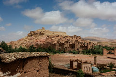 Panoramablick von Ait Benhaddou, Marokko Lizenzfreie Stockbilder