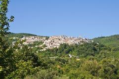 Panoramablick von Alberona. Puglia. Italien. Stockfotografie