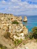 Panoramablick von Algarve-Küste stockbild