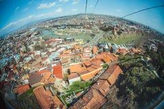 Panoramablick von altem Tiflis Lizenzfreies Stockfoto