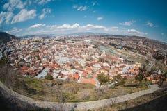 Panoramablick von altem Tiflis Stockfotografie