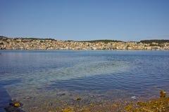 Panoramablick von Argostoli-Stadt, Kefalonia Lizenzfreie Stockbilder
