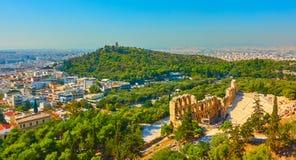 Panoramablick von Athen stockfotografie
