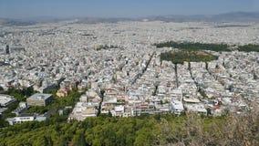Panoramablick von Athen, Griechenland stockfotografie