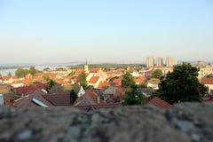 Panoramablick von Belgrad von Zemun lizenzfreies stockfoto