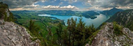 Panoramablick von Bergen in Österreich Stockfotografie