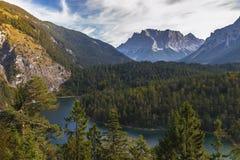 Panoramablick von Blindsee Stockfotografie