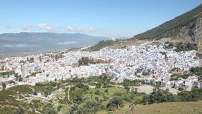 Panoramablick von Chefchaouen, Marokko stock video