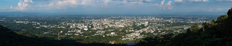 Panoramablick von Chiang Mai-Skylinen Stockbilder