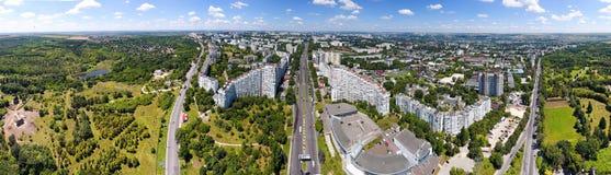 Panoramablick von Chisinau an den Stadt-Toren Hauptstadt Stockbild