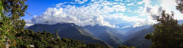 Panoramablick von Coroico, Yungas, Bolivien Stockfotografie