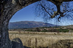 Panoramablick von Dörfern Plana im Berg Plana durch Vitosha Lizenzfreie Stockbilder