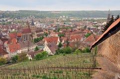 Panoramablick von Esslingen lizenzfreie stockfotografie