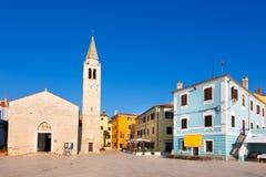 Panoramablick von Fazana-Dorf, Kroatien Lizenzfreie Stockfotos