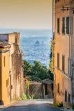 Panoramablick von Florenz von Fiesole Lizenzfreie Stockfotografie
