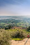 Panoramablick von Florenz von Fiesole Toskana, Italien Lizenzfreie Stockfotografie