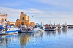 Panoramablick von Gallipoli. Puglia. Italien. stockfotografie