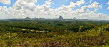 Panoramablick von Glashaus-Bergen in Queensland, Australien Lizenzfreie Stockfotos