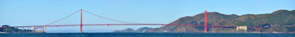 Panoramablick von Golden gate bridge von San Francisco lizenzfreies stockbild