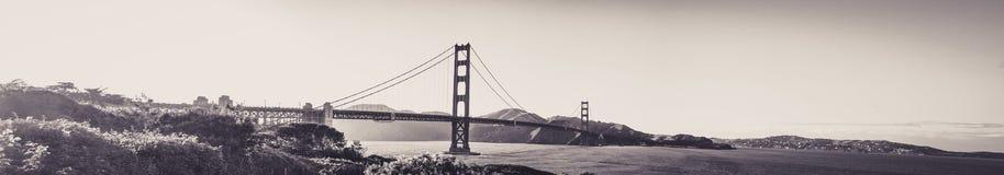 Panoramablick von Golden gate bridge von San Francisco lizenzfreies stockfoto