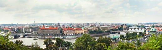 Panoramablick von historischen Gebäuden in Prag, Tschechische Republik Stockfotos