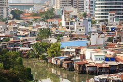 Panoramablick von Ho Chi Minh-Stadt, Vietnam Stockbild