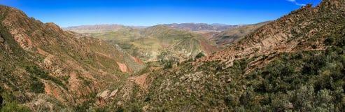 Panoramablick von Inca Trail, Sucre, Bolivien Lizenzfreies Stockbild