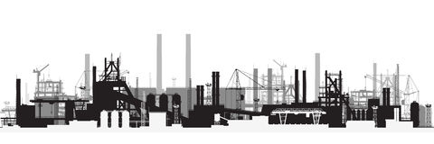 Panoramablick von Industrielandschaft Stockfoto