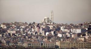 Panoramablick von Istanbul Lizenzfreies Stockfoto
