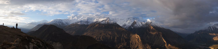 Panoramablick von Karakorum-Bergen, Pakistan stockbild