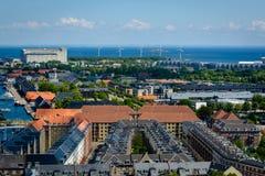 Panoramablick von Kopenhagen, Dänemark Lizenzfreies Stockbild