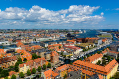 Panoramablick von Kopenhagen, Dänemark Lizenzfreie Stockbilder